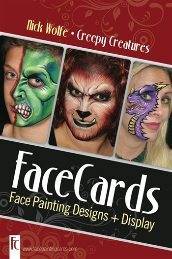 Nick Wolfe Face Painting Cards Face Paint Designs Step